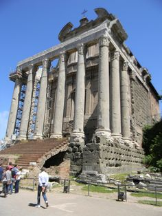 Ancient Roman Temple of Antoninus and Faustina.