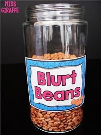 Blurt beans are AWESOME for helping kids not interrupt and earn fun rewards! Read this for all 25 classroom management ideas! Classroom Management Strategies, Classroom Procedures, Behaviour Management, Classroom Organization, Kindergarten Classroom Management, Preschool Education, Elementary Education, Upper Elementary, Organizing