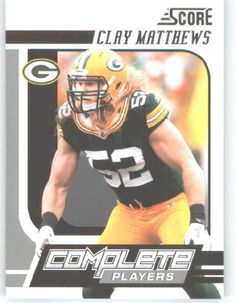 2011 Score Complete Players #2 Clay Matthews - Green Bay Packers (Football Cards) by Score Complete Players. $1.05. 2011 Score Complete Players #2 Clay Matthews - Green Bay Packers (Football Cards)