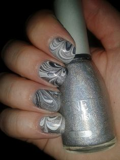 water marble with holo base.  Awesome