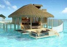 Beach House of Maldives in the Indian Ocean and owned by the Waldorf Astoria.