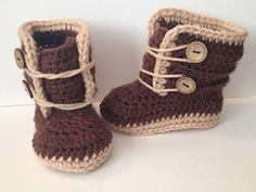 Ravelry: 3-6 Months Baby Winter Boots pattern by Katerina Cohee