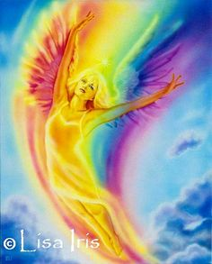 Iris Goddess Of The Rainbow | flower she joined the rainbow and she wants to touch