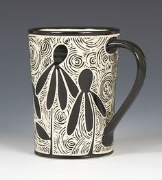 http://www.artfulhome.com/product/Ceramic-Mug/Coneflower-Mug/76275  Love the background