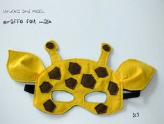 Hippo Craft with a Giraffe Mask. Felt Giraffe, Little Giraffe, Giraffe Costume, Safari Costume, Diy For Kids, Crafts For Kids, Giraffes Cant Dance, Felt Mask, Kids Dress Up