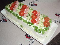 Sokeriton. Reseptiä katsottu 285977 kertaa. Reseptin tekijä: Nauravanakki. Sandwich Cake, Sandwiches, Finnish Recipes, No Salt Recipes, Cheesecakes, Finger Foods, Food Art, Tea Party, Sushi