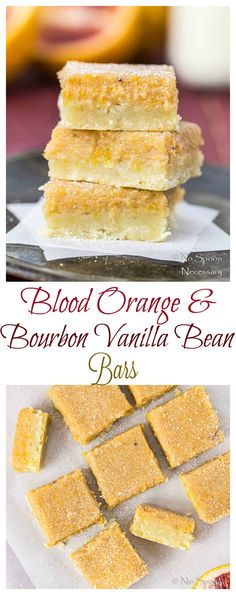 Blood Orange & Bourbon Vanilla Bean Bars - A Delicious Twist On Classic Lemon Bars!