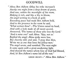 abu ben adam  my fathers favorite poem