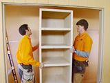 How to build a closet shelving unit to de-clutter the space