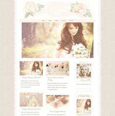 Responsive Wordpress Theme - Blog Design - Premade Wordpress Template - Whisper, Romantic, Feminine, Pretty, Beautiful, Vintage