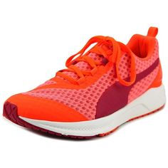 Puma Puma Ignite Xt Filtered Women Round Toe Synthetic Orange Trail... ($31) ❤ liked on Polyvore featuring shoes, athletic shoes, orange, round cap, rose shoes, orange flat shoes, round toe flats and athletic flats