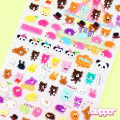 Animal sticker set (model 4)