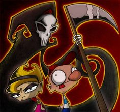 this Invader Zim type style Grim, Billy & Mandy! Cartoon Network Shows, Cartoon Tv Shows, Billy Mandy, Realistic Cartoons, Plus Tv, Gamers Anime, Shadow Art, Invader Zim, Cartoon Crossovers