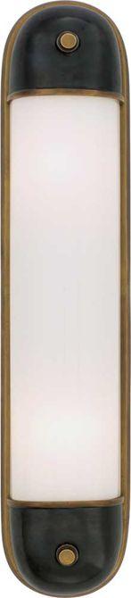 "Circa Lighting: Selecta Long Glass Bath Light - TOB2062 588 2 60 watt 22"" 4.5  Height: 21 3/4""  Width: 4 3/4""  Backplate: 4 3/4"" x 21 3/4"" Oval Extension: 3 1/4"" Wattage: 2 - 60 Watt Type T Socket: Keyless"