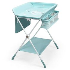 The 4-in-1 baby changing table can effectively relieve parents' stress and help parents' lives become easier and more convenient. Specifically, our changing table can be used as a bathing table, drying rack and shoe rack in addition to changing clothes for babies. The 3 levels of adjustable height can perfectly adapt to the needs of different users, allowing you to replace your baby with a new diaper without bending over. The side storage shelve and bag can provide you with enough storage…
