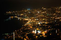 Funchal, Madeira Island, Portugal at night
