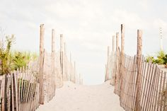 "Beach Photography - dune photo fence pale neutral seashore light white cream brown coastal art print nautical photograph, ""Beyond the Dunes"" on Etsy, $33.00"