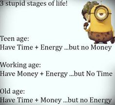 Stages of life funnies