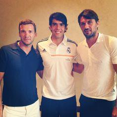 Andriy Shevchenko, Kaka, and Paolo Maldini