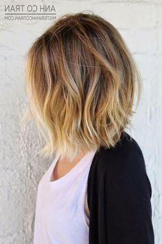 Medium Length Blonde Ombre Hair 23 Cute Bob Haircuts Amp Styles For Thick Hair Short Shoulder