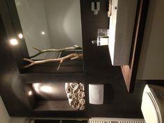 Hout in de badkamer Small Bathroom, Master Bathroom, Bathroom Ideas, Bathrooms, Bath Design, Bathroom Interior Design, Tadelakt, Bathroom Renovations, Vanities