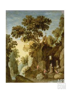 The Temptation of St. Anthony Giclee Print by Marten Ryckaert at Art.com