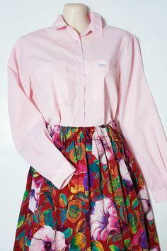 90-luvun S-style vaaleanpunainen pusero, 38-40 Streetwear, Floral, Skirts, Vintage, Style, Fashion, Moda, Fashion Styles, Flowers