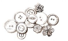 edm 89 buttons pencil sketch before ink sm by sbergeron00, via Flickr