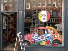 A Continuous Report - Caffe 500 Amsterdam Restaurant, Fiat Abarth, Best Places To Eat, New Life, The Neighbourhood, Vehicles, Restaurants, Cars, Vintage