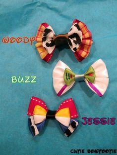 Any 5 Mini Hair Bows Disney Inspired. $12.00, via Etsy.
