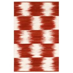 Vitto Flat Weave Wool Rug with Ikat Design