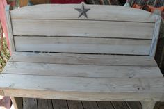 Treated lumber and Stained With Sun Bleach stain. The Texas Star says it all!
