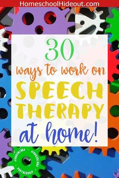You CAN do speech therapy at home! 30 Quick and Easy activities you can try today. #speachtherapyactivities #speachtherapy