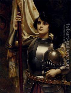 Joan of Arc (Jeanne d'Arc) - Fine Art Gallery Joan D Arc, Saint Joan Of Arc, St Joan, Dante Gabriel Rossetti, Jeanne D'arc, John Everett Millais, Female Knight, Lady Knight, Female Armor