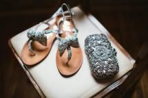 Sparkling sandals fo