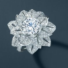 3a4747b23 Diamond flower ring. From The Great Gatsby Collection, jewelry inspired by  Baz Luhrmann's film