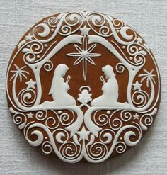 Today we are looking at Moravian and Bohemian gingerbread designs from the Czech Republic. Back home, gingerbread is eaten year round and beautifully decorated cookies are given on all occasions. Christmas Sugar Cookies, Christmas Sweets, Noel Christmas, Christmas Goodies, Holiday Cookies, Christmas Baking, Gingerbread Cookies, Christmas Decorations, Italian Christmas
