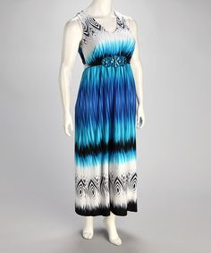 Take a look at this Blue Plus-Size Maxi Dress by True Blue: Plus-Size Apparel on @zulily today!