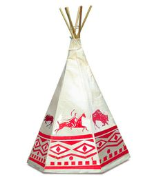 Native American Teepee for boys room (slighlty ironic, however, that it's made in France)