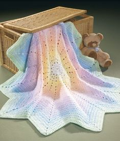 The Best of Mary Maxim Baby Afghans - The baby afghans in this collection from Mary Maxim are perfect to crochet for your little bundle of joy or to give as a treasured gift. 7 Designs to make using sport or medium weight yarns: Sugar Spun Blanket, Baby Diamonds Blanket, Bears on My Blanket, Tiny Bubbles Blanket, Duckies Blanket, Peaceful Pastels Afghan, and Baby Diagonal Blanket.