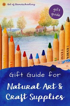 Art & craft supplies make wonderful gifts! This gift guide is full of ideas for you & your children. Great for birthdays, holidays, or the start of a new homeschooling year. Great for holistic hands-on homeschoolers! Japanese Origami, Chalkboard Drawings, Origami For Beginners, Inspired Learning, Art Supply Stores, Homeschooling, Homeschool Curriculum, Nature Crafts, Arts And Crafts Supplies