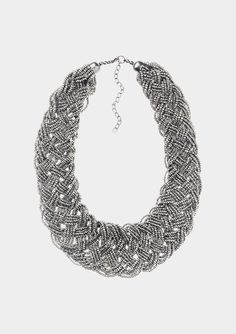 PLAITED BEADS NECKLACE by TOAST