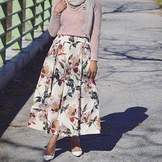 Hijab Fashion | Skirt should cover the ankles aswell though!