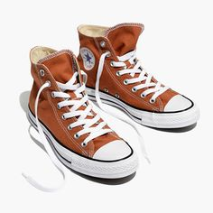 Madewell Womens Converse Unisex Chuck Taylor All Star High-Top Sneakers In  Ochre 76c8faddba902