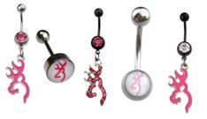 Hot+Sell+Button+Piercing+316L+5pc+Browning+Deer+Tongue+STUD+Navel+Belly+Rings++#ionchic