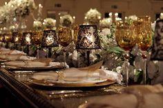 Decoração de centro de mesa para casamento