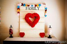 Hand-stitched felt heart garland! #felt #valentines #hearts