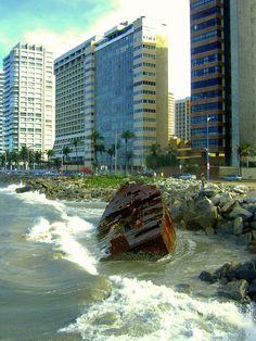 Fortaleza, Ceara - Brasil - Uma das capitais mais bonitas do Brasil. Lugar de praias maravilhosas.