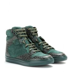 Balenciaga - Leather and suede high-top sneakers - mytheresa.com GmbH