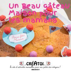 Un tuto avec recette et décorations à fabriquer pour réaliser un beau gâteau le jour de la fête des mamans